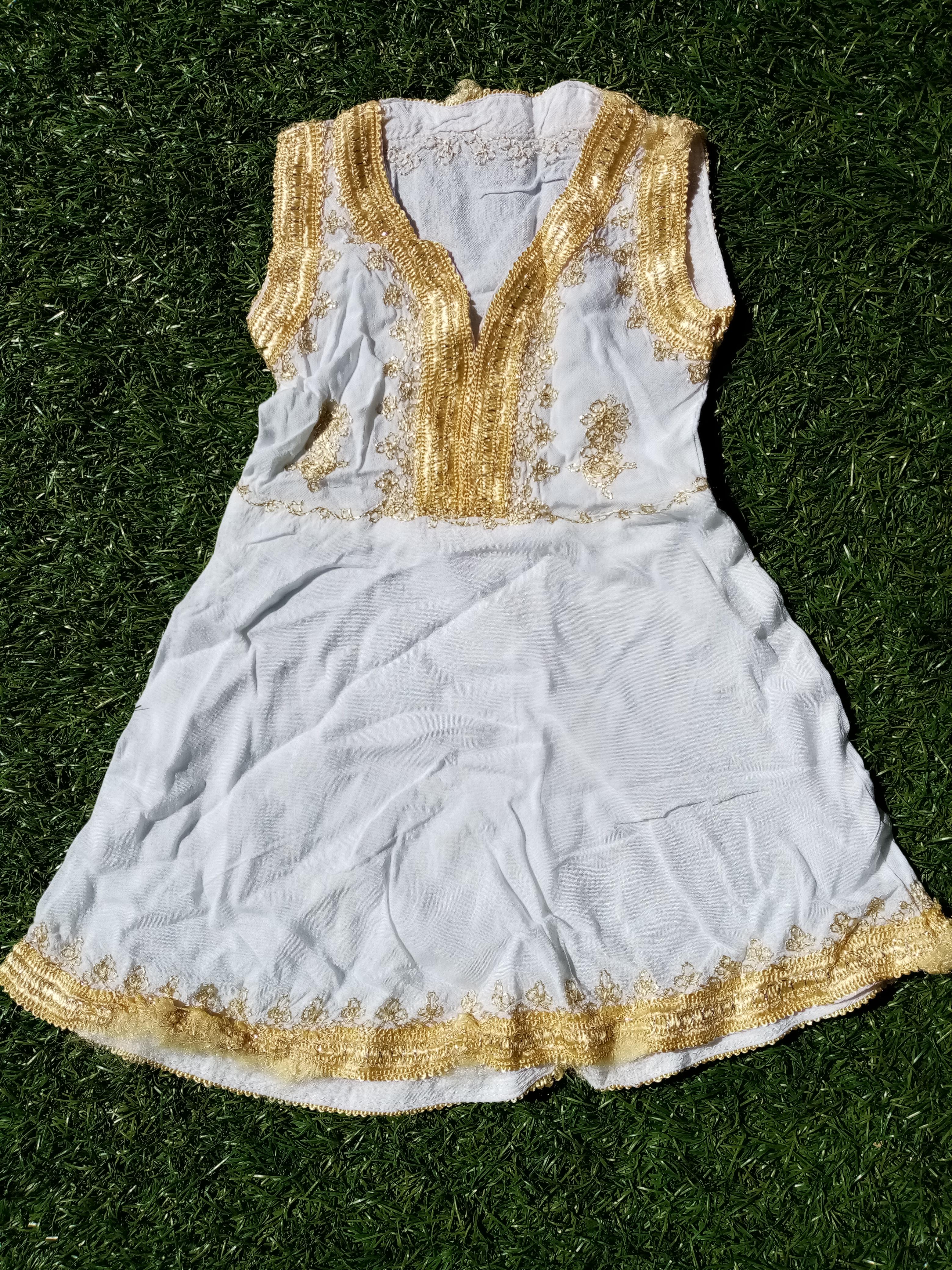 Robe blanc/or 3-6mois