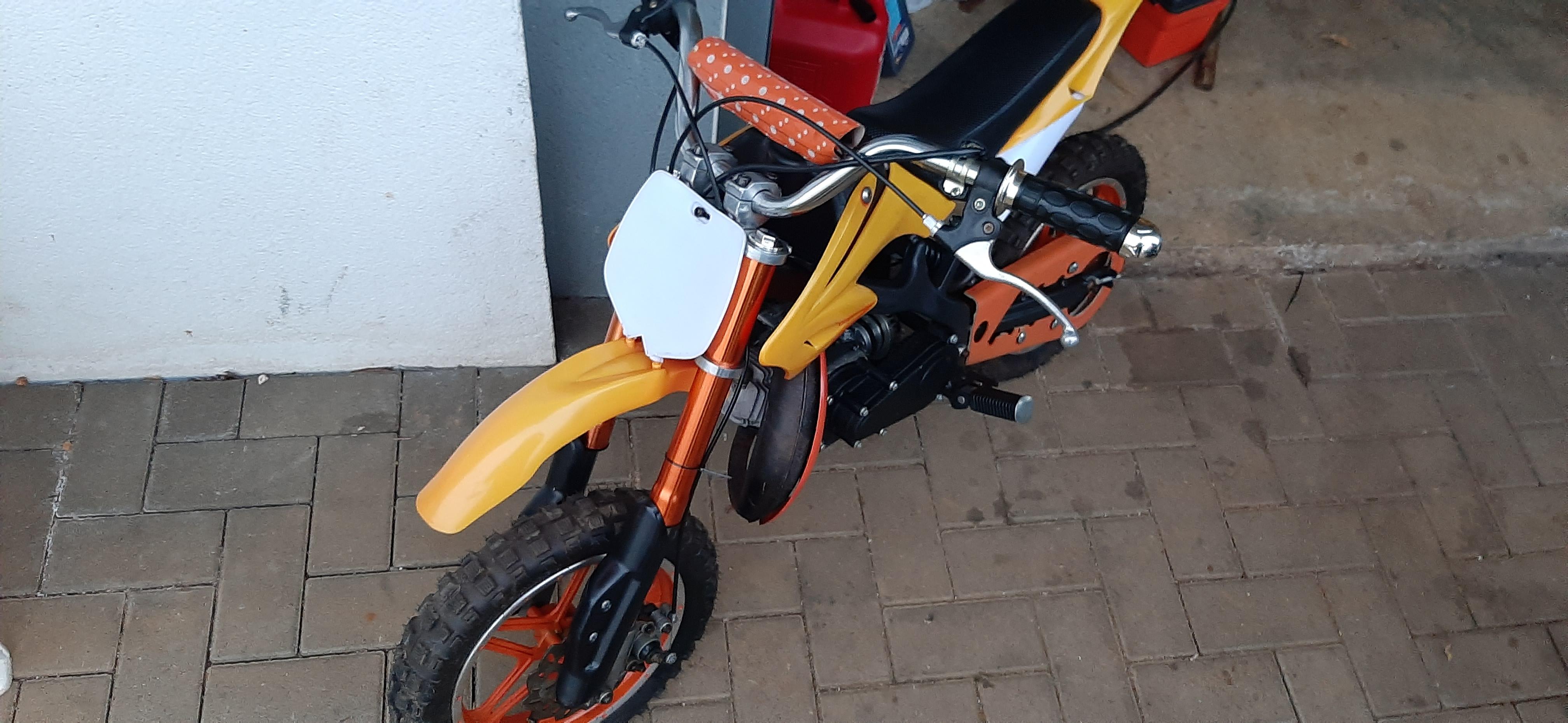 Petite moto cross enfant